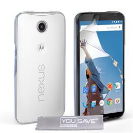 Yousave Accessories Google Nexus 6 Hard Case - Crystal Clear