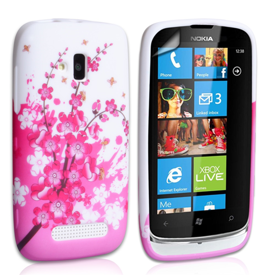 Yousave Accessories Nokia Lumia 610 Floral Bee Case