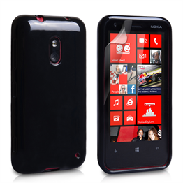 Yousave Accessories Nokia Lumia 620 Gel Black Case