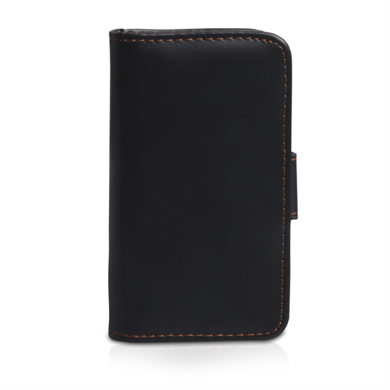 Yousave Accessories Nokia Lumia 620 Leather-Effect Wallet Case - Black