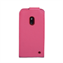 Yousave Accessories Nokia Lumia 620 Leather-Effect Flip Case - Hot Pink