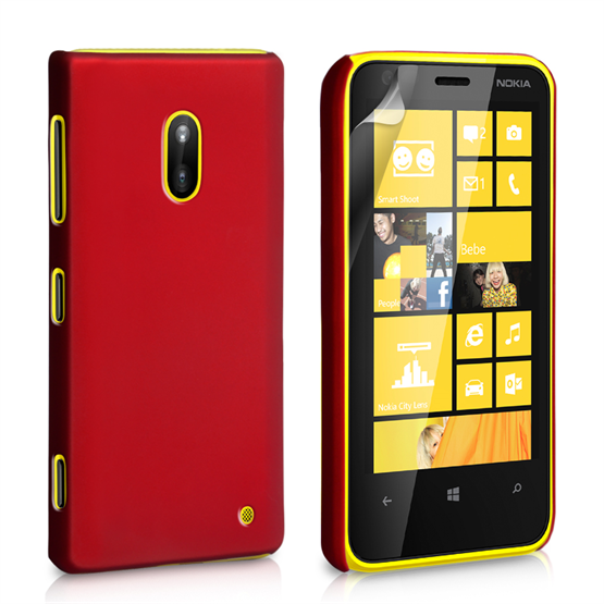 Yousave Accessories Nokia Lumia 620 Hard Hybrid Case - Red