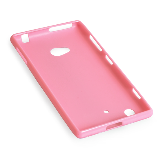 Yousave Accessories Nokia Lumia 720 Polka Dot Baby Pink Case