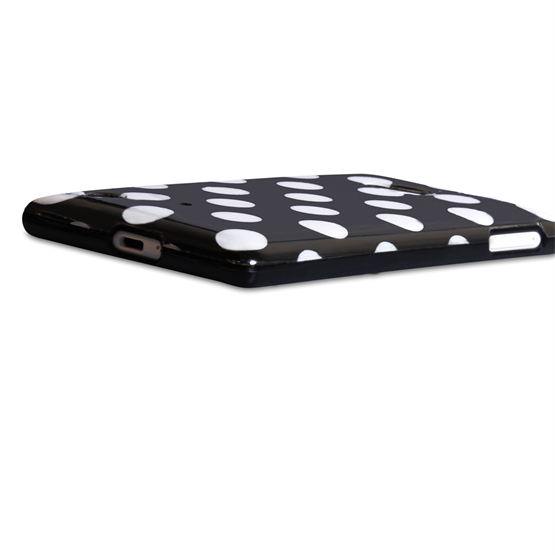 Yousave Accessories Nokia Lumia 720 Polka Dot Black Case
