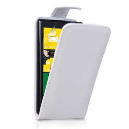 Yousave Accessories Nokia Lumia 820 PU Flip White Case
