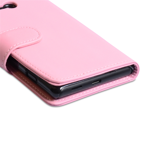 Yousave Accessories Nokia Lumia 820 PU Wallet Baby Pink Case