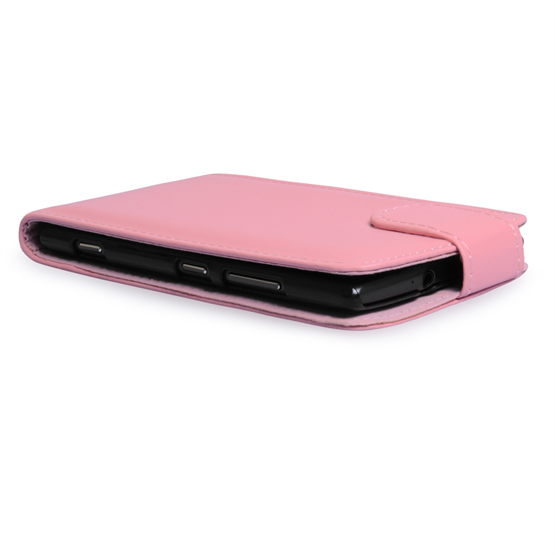 Yousave Accessories Nokia Lumia 925 PU Flip Baby Pink Case