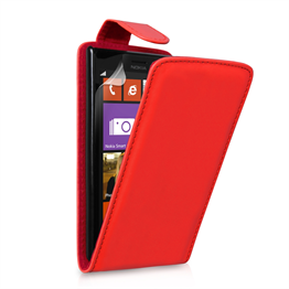 Yousave Accessories Nokia Lumia 925 PU Flip Red Case