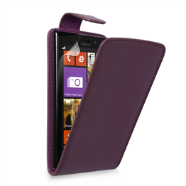 Yousave Accessories Nokia Lumia 925 PU Flip Purple Case
