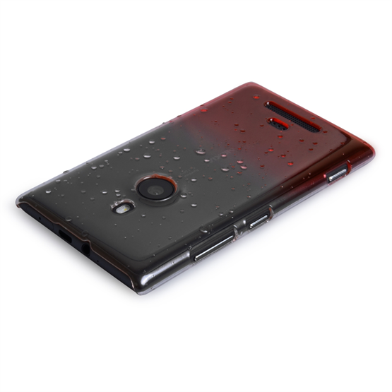 Yousave Accessories Nokia Lumia 925 Raindrop Red Case