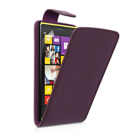 Yousave Accessories Nokia Lumia 1020 PU Flip Purple Case