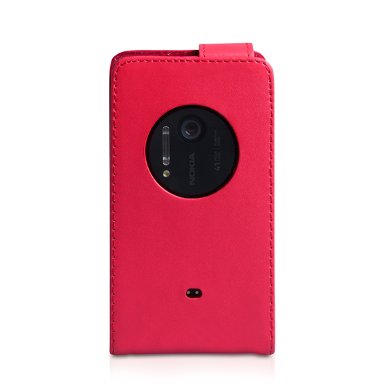 Yousave Accessories Nokia Lumia 1020 Red PU Leather Flip