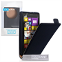 Yousave Accessories Nokia Lumia 1020 Real Leather Flip Black Case