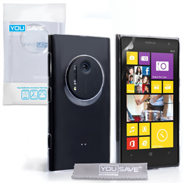 Yousave Accessories Nokia Lumia 1020 Crystal Clear Case