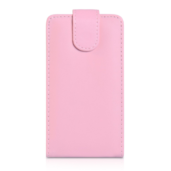 Yousave Accessories Nokia Lumia 625 Baby Pink PU Leather Flip