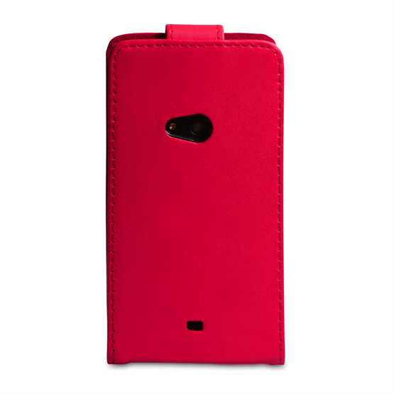 Yousave Accessories Nokia Lumia 625 PU Leather Flip Red Case