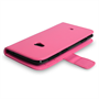 Yousave Accessories Nokia Lumia 625 Leather-Effect Wallet Case - Hot Pink