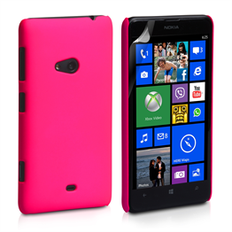 Yousave Accessories Nokia Lumia 625 Hard Hybrid Case - Hot Pink