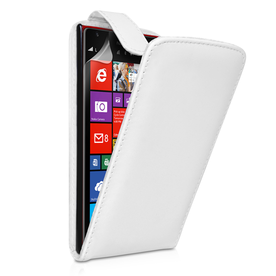 Yousave Accessories Nokia Lumia 1520 Leather-Effect Flip Case - White