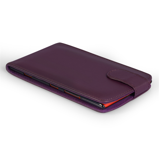 Yousave Accessories Nokia Lumia 1520 Leather-Effect Flip Case - Purple
