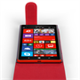 Yousave Accessories Nokia Lumia 1520 Leather-Effect Flip Case - Red