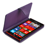 Yousave Accessories Nokia Lumia 1520 Leather-Effect Wallet Case - Purple