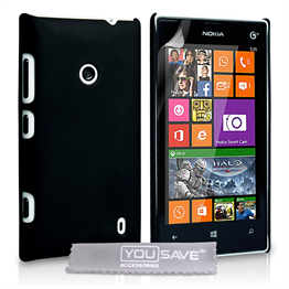 Yousave Accessories Nokia Lumia 525 Hybrid Black Case