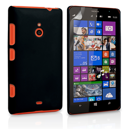 Yousave Accessories Nokia Lumia 1320 Hard Hybrid Case - Black