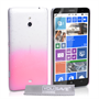 Yousave Accessories Nokia Lumia 1320 Raindrop Hard Case - Baby Pink-Clear