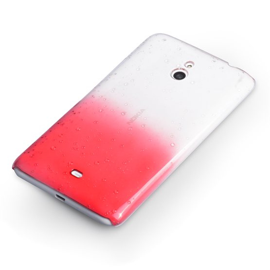 Yousave Accessories Nokia Lumia 1320 Raindrop Hard Case - Red-Clear