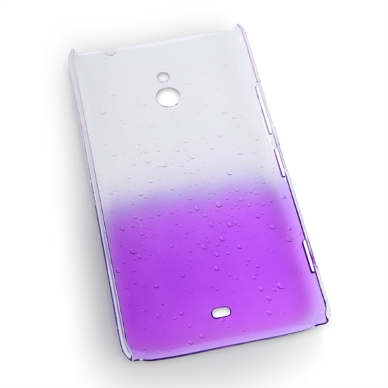 Yousave Accessories Nokia Lumia 1320 Raindrop Hard Case - Purple-Clear