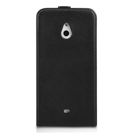 Yousave Accessories Nokia Lumia 1320 Leather-Effect Flip Case - Black