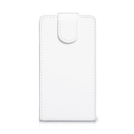 Yousave Accessories Nokia Lumia 1320 Leather-Effect Flip Case - White
