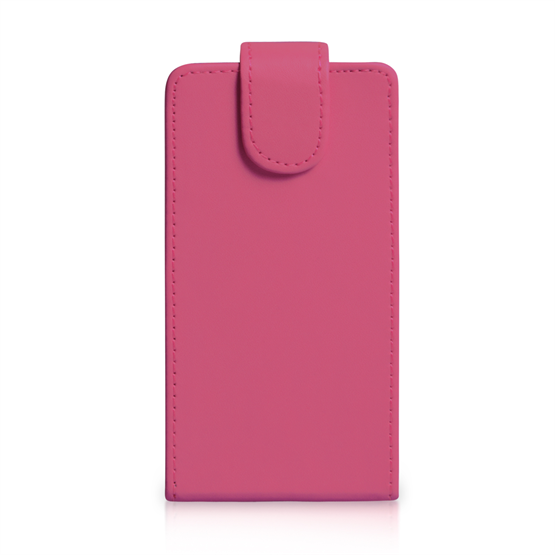 Yousave Accessories Nokia Lumia 1320 Leather-Effect Flip Case - Hot Pink