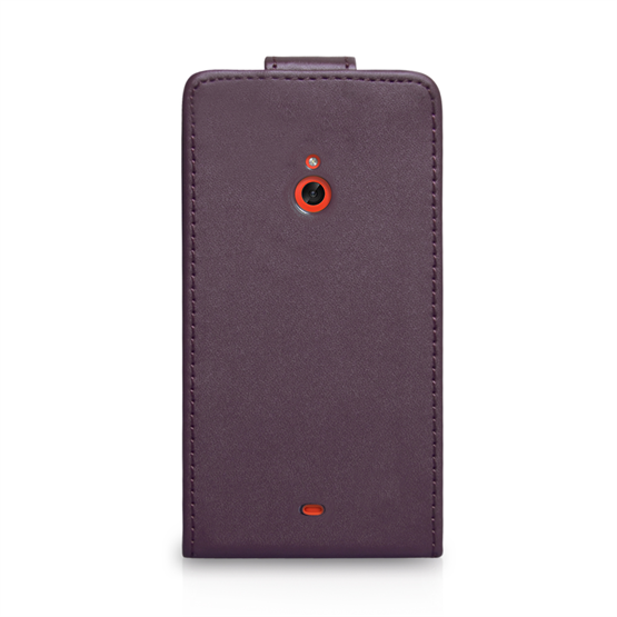 Yousave Accessories Nokia Lumia 1320 Leather-Effect Flip Case - Purple