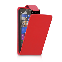 Yousave Accessories Nokia Lumia 1320 Leather-Effect Flip Case - Red