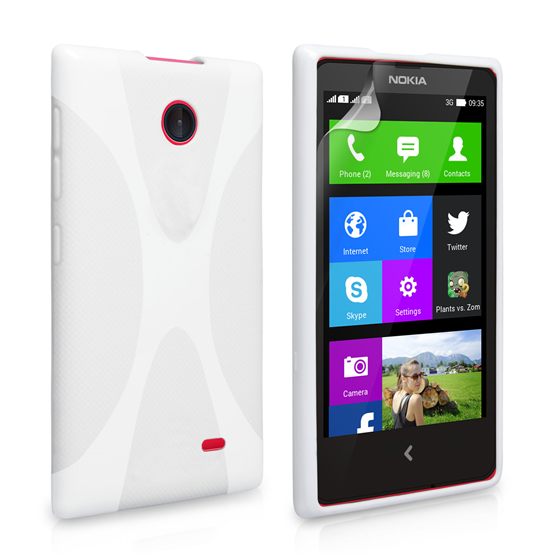 Yousave Accessories Nokia X Silicone Gel X-Line Case - White