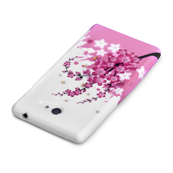 Yousave Accessories Nokia X Floral Bee Silicone Gel Case