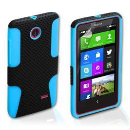 Yousave Accessories Nokia X Tough Mesh Combo Silicone Case - Blue-Black