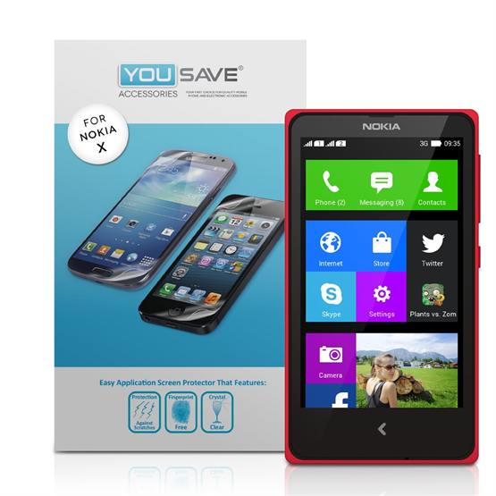 Yousave Accessories Nokia X Screen Protectors X 3 Clear