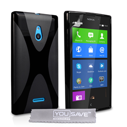 Yousave Accessories Nokia Xl Silicone Gel X-Line Case - Black
