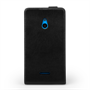 Yousave Accessories Nokia Xl Real Leather Flip Black Case