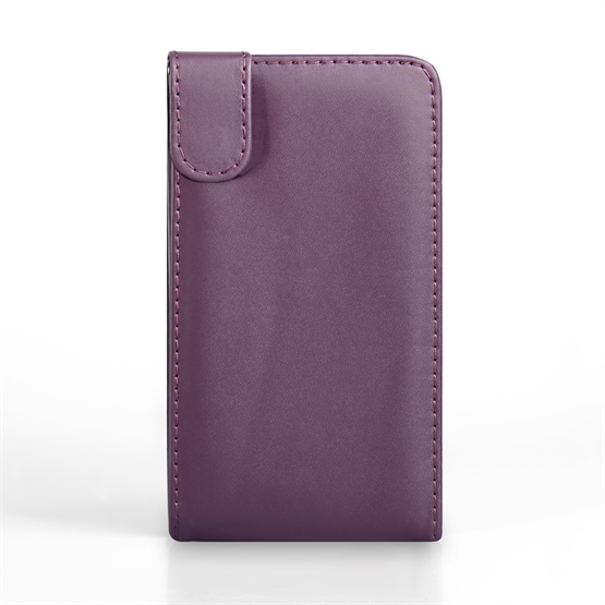 Yousave Accessories Nokia Xl Leather-Effect Flip Case - Purple