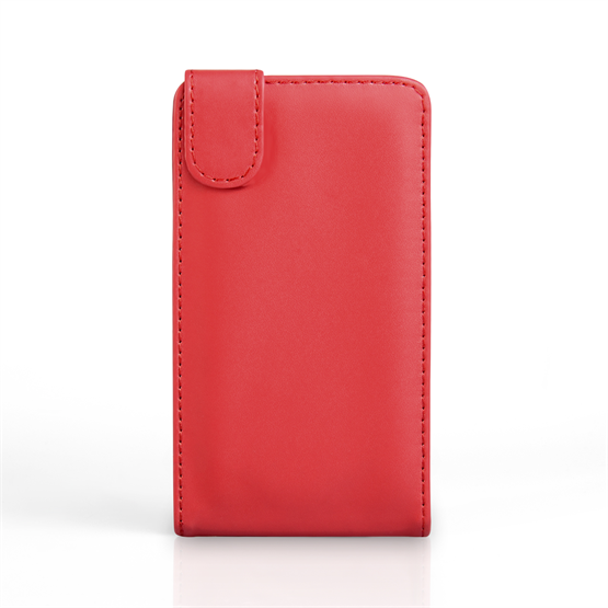 Yousave Accessories Nokia Xl Leather-Effect Flip Case - Red
