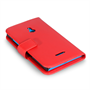 Yousave Accessories Nokia Xl Leather-Effect Wallet Case - Red