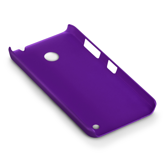 Yousave Accessories Nokia Lumia 630 Hard Hybrid Case - Purple