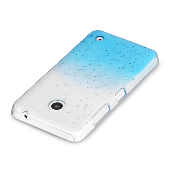 Yousave Accessories Nokia Lumia 630 Raindrop Hard Case - Blue-Clear