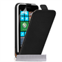 Yousave Accessories Nokia Lumia 630 Black Real Leather Flip