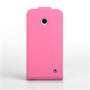 Yousave Accessories Nokia Lumia 630 Leather-Effect Flip Case - Hot Pink