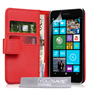 Yousave Accessories Nokia Lumia 630/635 PU Wallet Red Case
